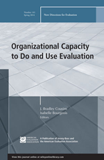 Organizational capacity to do and use evaluation: New directions for evaluation