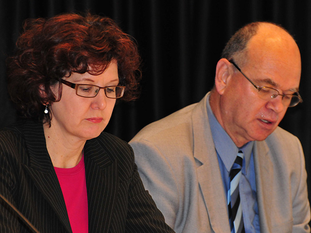 Stephane Cardinal and Tim Aubry at the Alliance to End Homelessness Forum (2012)